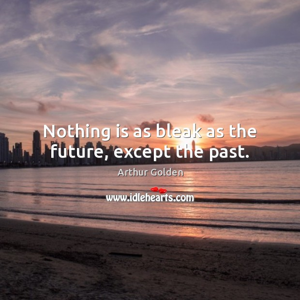 Nothing is as bleak as the future, except the past. Arthur Golden Picture Quote