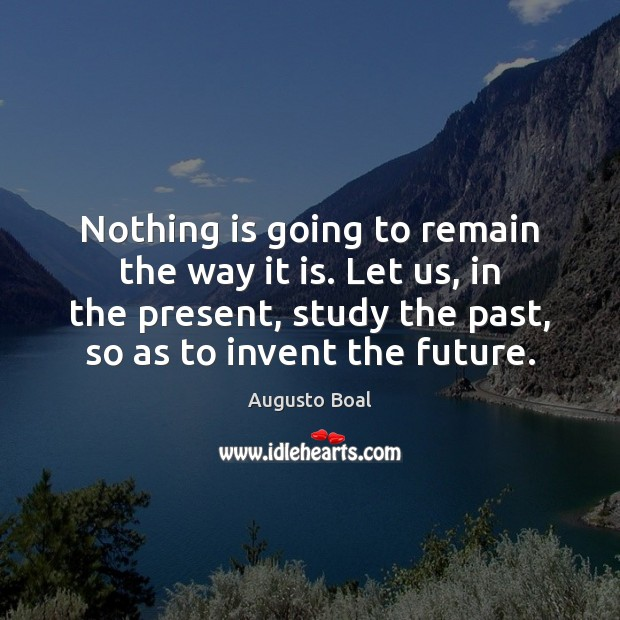 Nothing is going to remain the way it is. Let us, in Image
