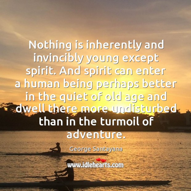 Image, Nothing is inherently and invincibly young except spirit.