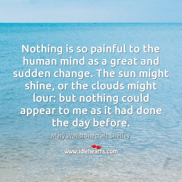 Nothing is so painful to the human mind as a great and Image
