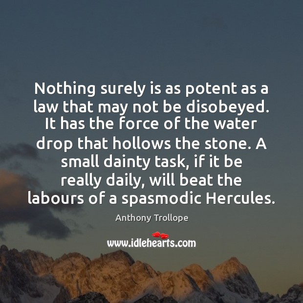 Nothing surely is as potent as a law that may not be Image