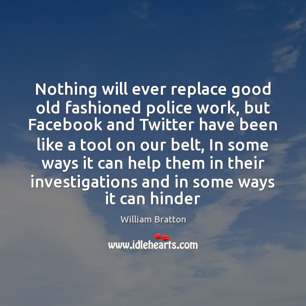Nothing will ever replace good old fashioned police work, but Facebook and Image