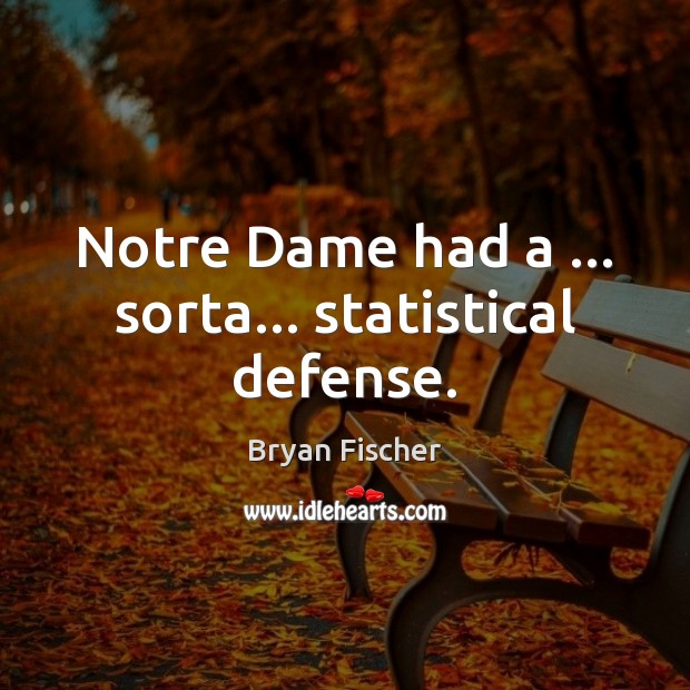 Image, Notre Dame had a … sorta… statistical defense.