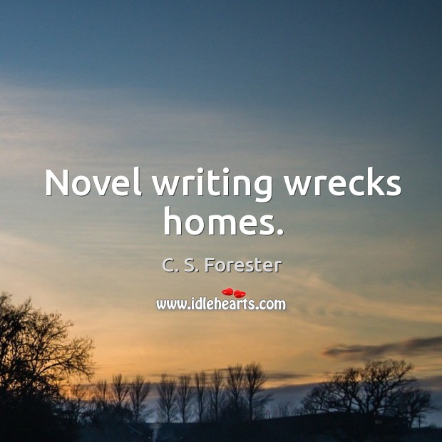 Image, Novel writing wrecks homes.