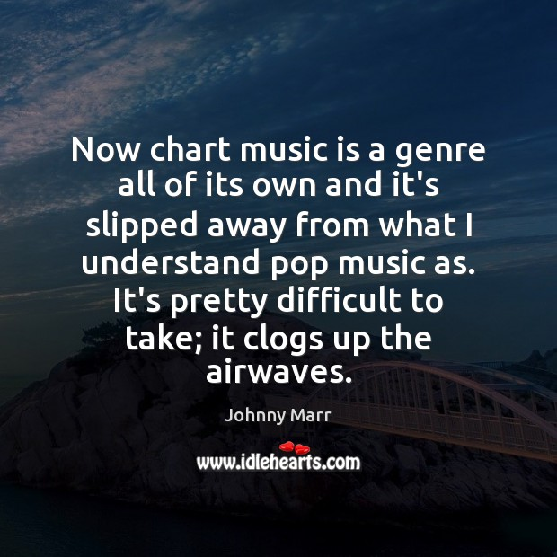 Image, Now chart music is a genre all of its own and it's