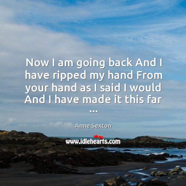 Now I am going back And I have ripped my hand From Image