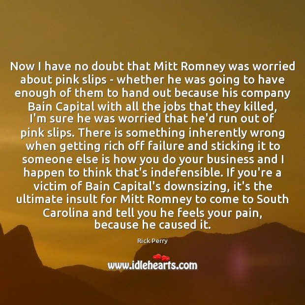 Now I have no doubt that Mitt Romney was worried about pink Image