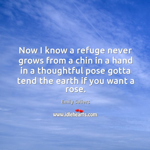 Now I know a refuge never grows from a chin in a Image