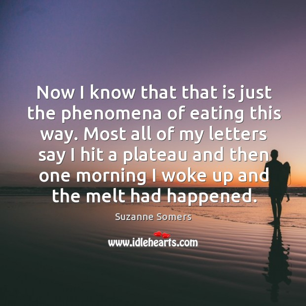 Now I know that that is just the phenomena of eating this way. Image