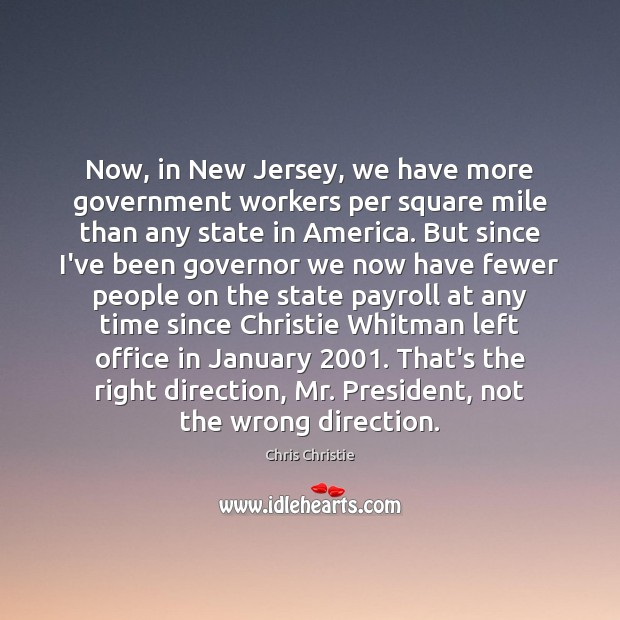 Now, in New Jersey, we have more government workers per square mile Image