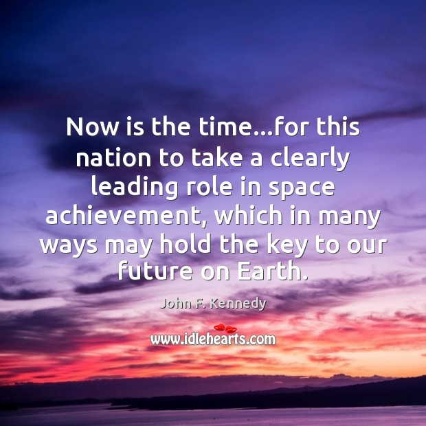 Now is the time…for this nation to take a clearly leading Image