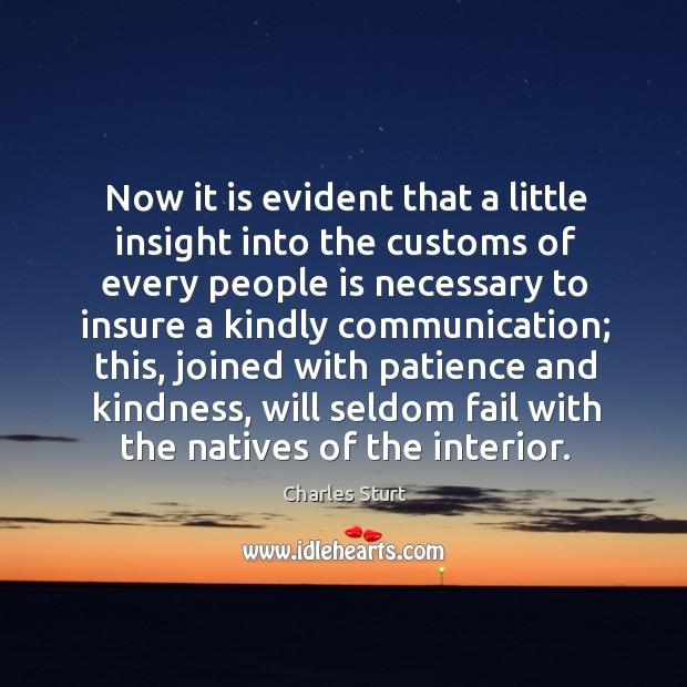 Now it is evident that a little insight into the customs of every people is necessary Image