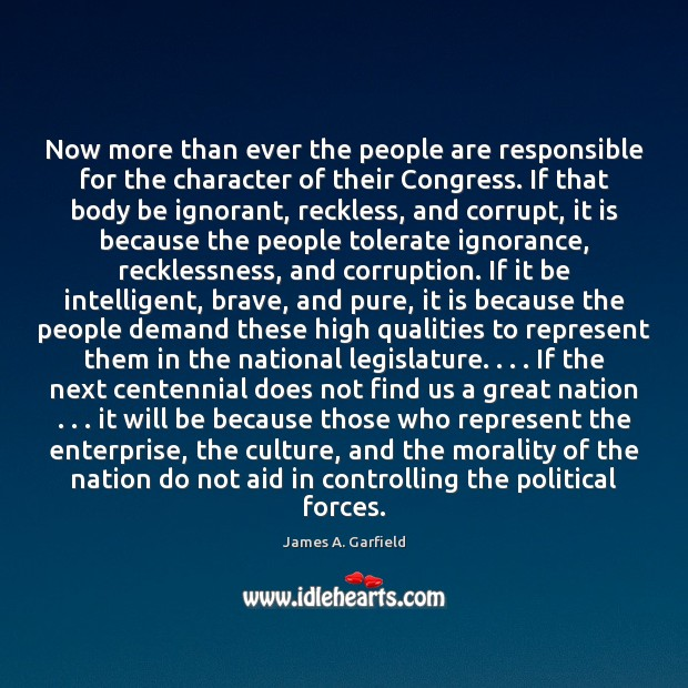 Now more than ever the people are responsible for the character of Image