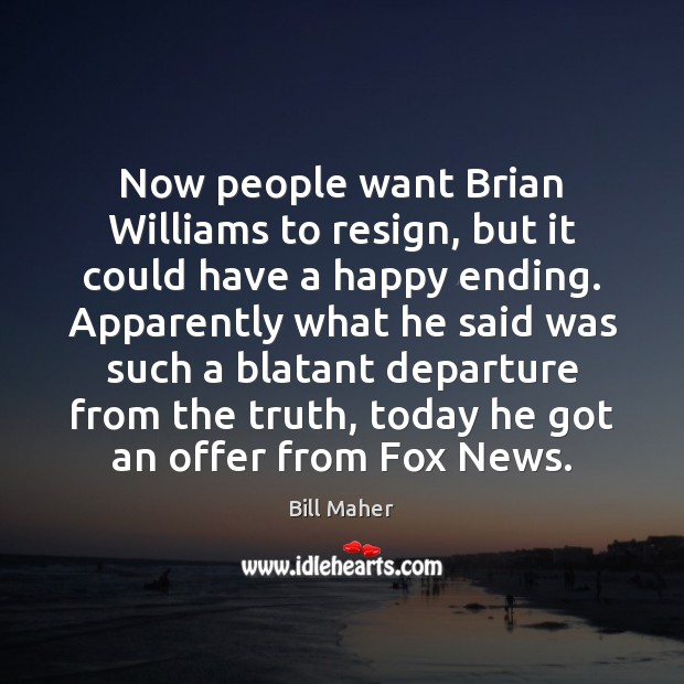 Now people want Brian Williams to resign, but it could have a Image
