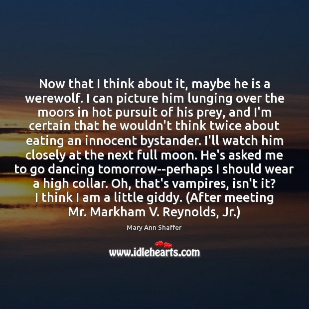 Image, Now that I think about it, maybe he is a werewolf. I