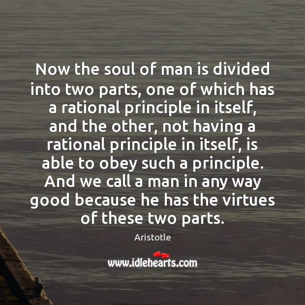 Image, Now the soul of man is divided into two parts, one of