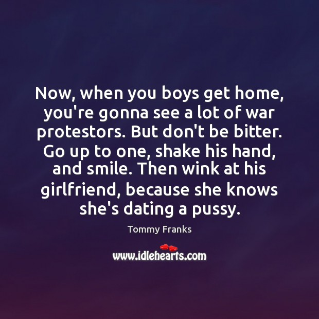 Now, when you boys get home, you're gonna see a lot of Image