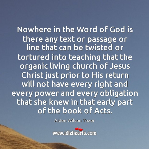 Nowhere in the Word of God is there any text or passage Image