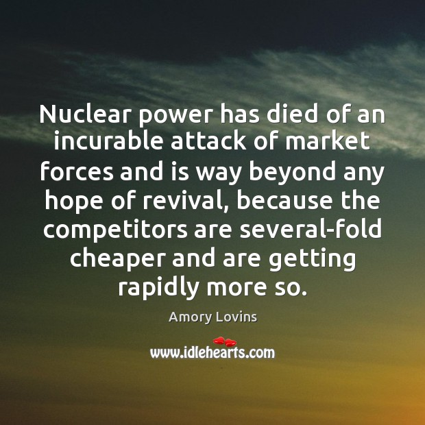 Nuclear power has died of an incurable attack of market forces and Image