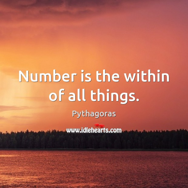 Image, Number is the within of all things.