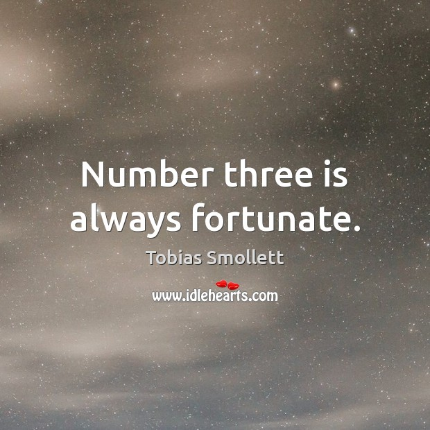 Number three is always fortunate. Image