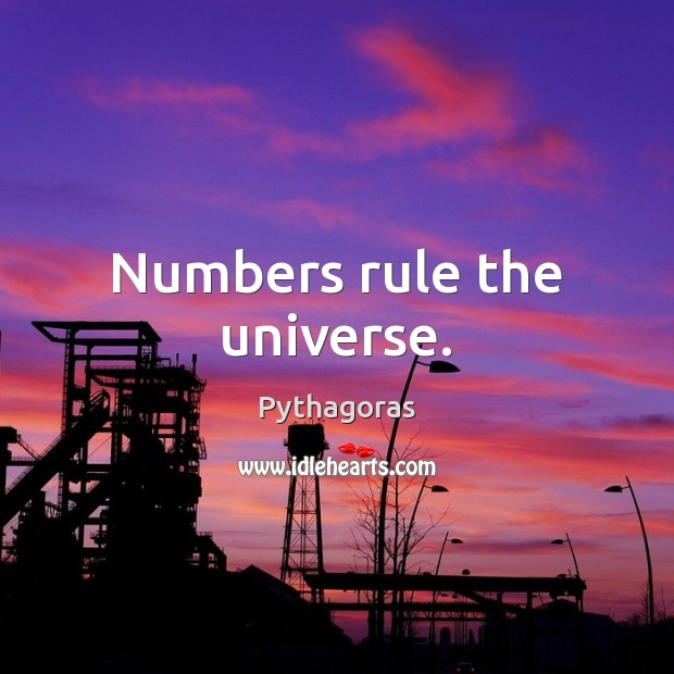 Image, Numbers rule the universe.