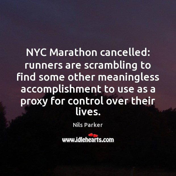 NYC Marathon cancelled: runners are scrambling to find some other meaningless accomplishment Image