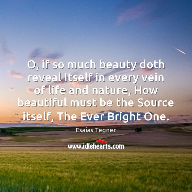 O, if so much beauty doth reveal Itself in every vein of Image