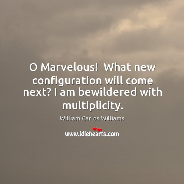 O Marvelous!  What new configuration will come next? I am bewildered with multiplicity. Image
