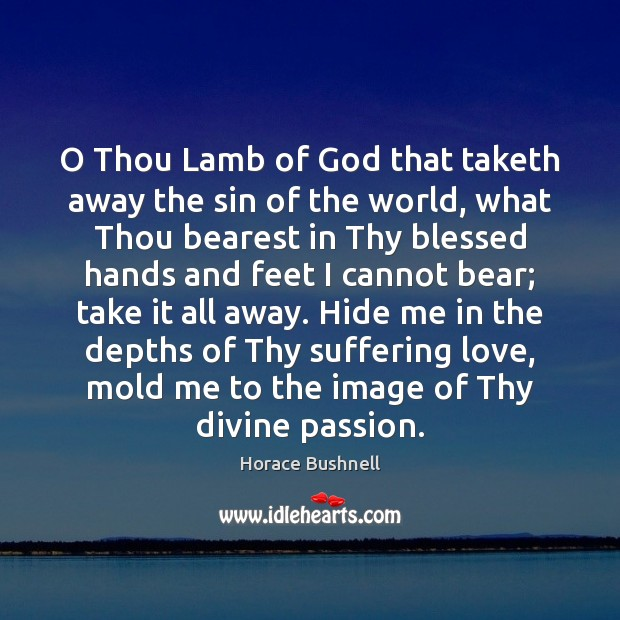 Image, O Thou Lamb of God that taketh away the sin of the