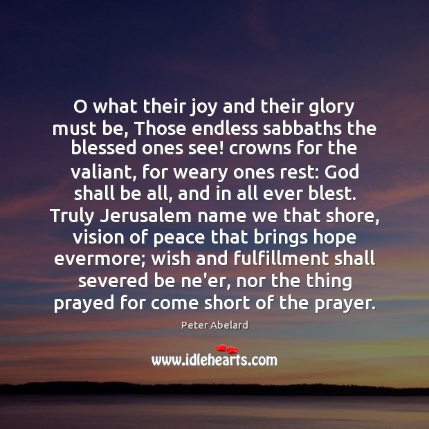 Image, O what their joy and their glory must be, Those endless sabbaths