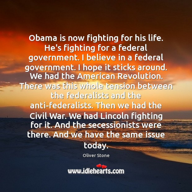 Obama is now fighting for his life. He's fighting for a federal Image