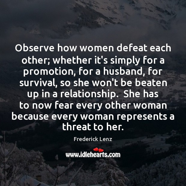 Observe how women defeat each other; whether it's simply for a promotion, Image
