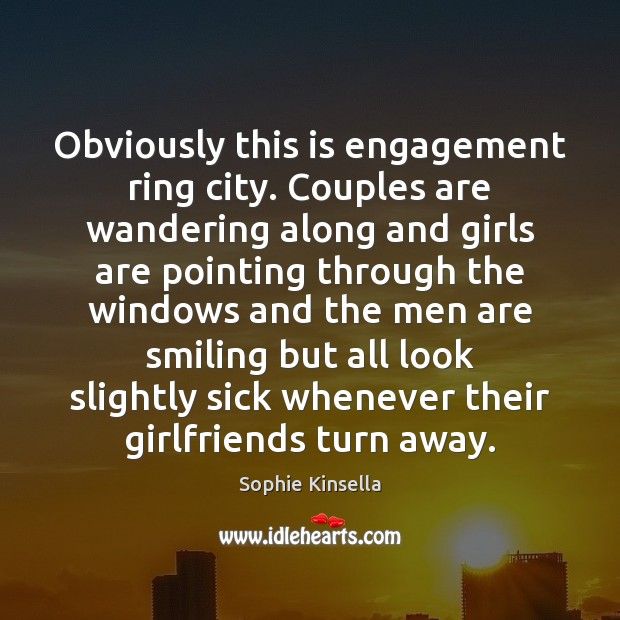Image, Obviously this is engagement ring city. Couples are wandering along and girls