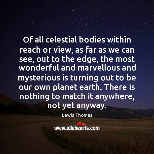 Of all celestial bodies within reach or view, as far as we Image