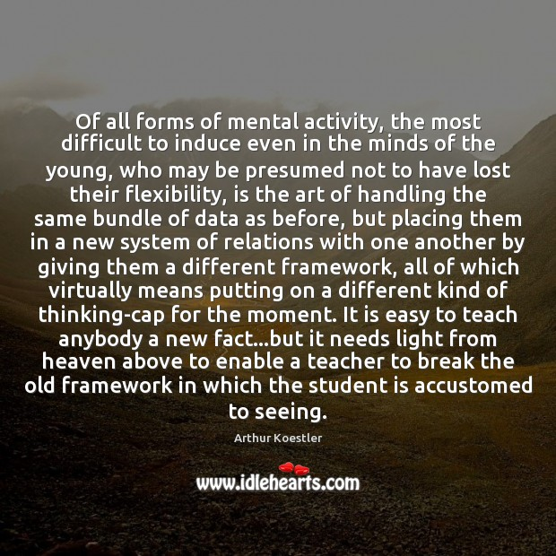 Of all forms of mental activity, the most difficult to induce even Student Quotes Image