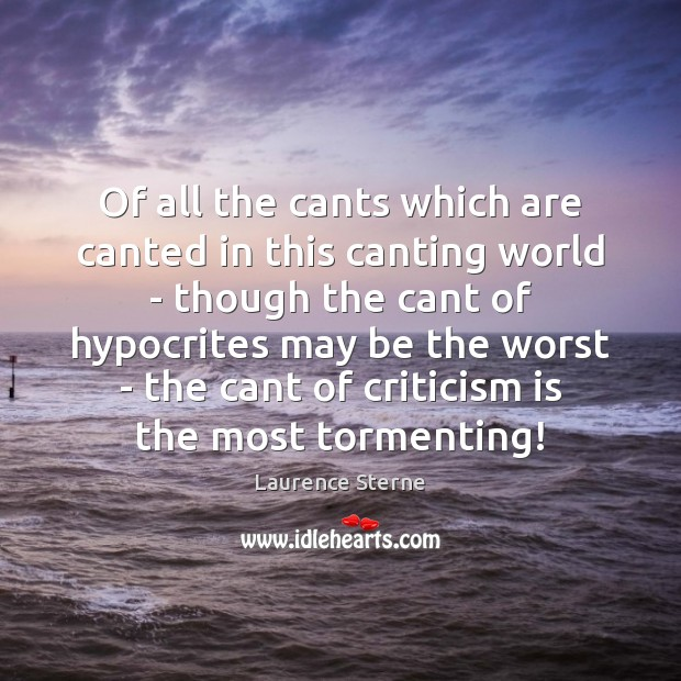 Of all the cants which are canted in this canting world – Image