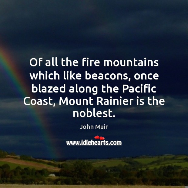 Image, Of all the fire mountains which like beacons, once blazed along the