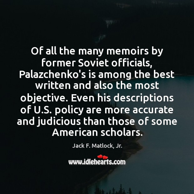 Image, Of all the many memoirs by former Soviet officials, Palazchenko's is among