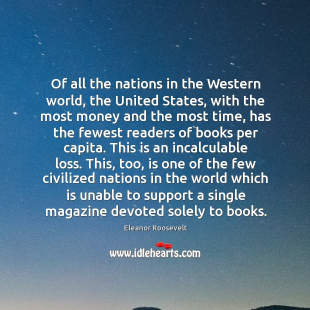 Of all the nations in the Western world, the United States, with Image