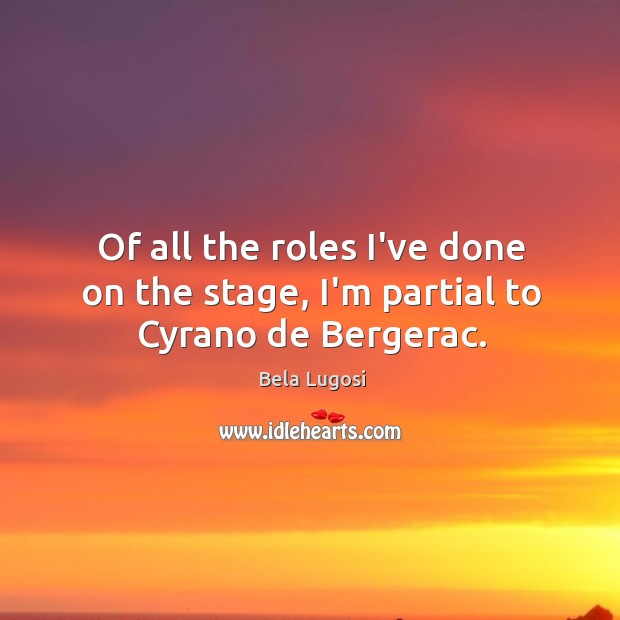 Picture Quote by Bela Lugosi