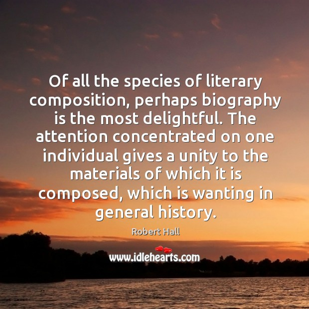 Of all the species of literary composition Image