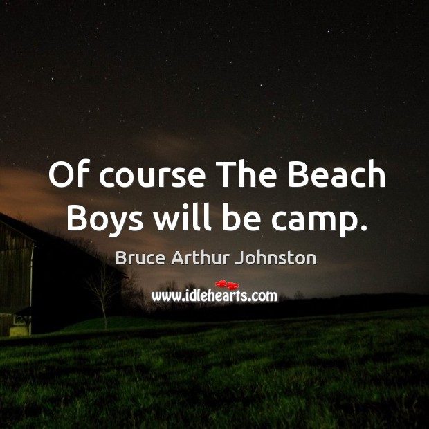 Image, Of course the beach boys will be camp.