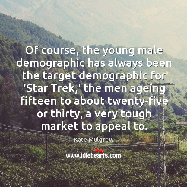 Of course, the young male demographic has always been the target demographic Image