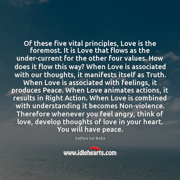 Of these five vital principles, Love is the foremost. It is Love Image