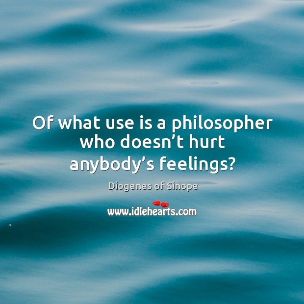 Image, Of what use is a philosopher who doesn't hurt anybody's feelings?