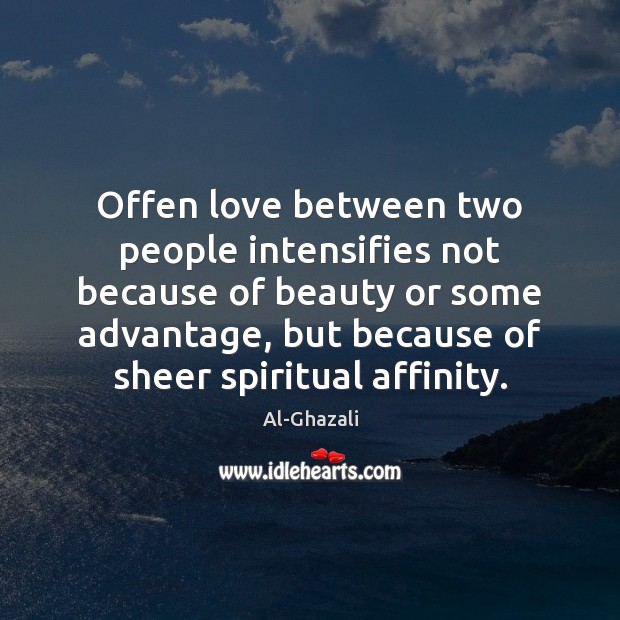 Image, Offen love between two people intensifies not because of beauty or some