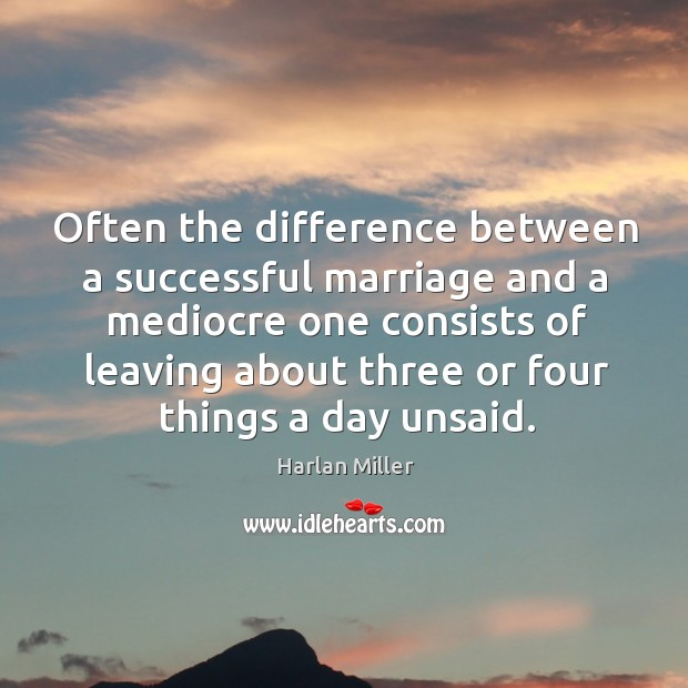Image, Often the difference between a successful marriage and a mediocre