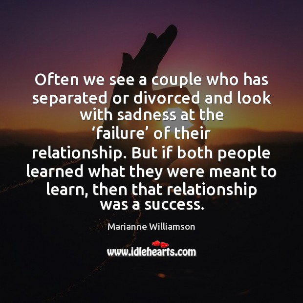 Often we see a couple who has separated or divorced and look Image