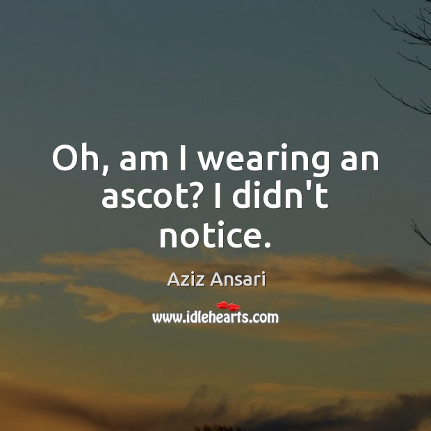 Image, Oh, am I wearing an ascot? I didn't notice.